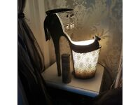 Lamps heels. Unusual fashion lamps cost £80 each. Very heavy ceramic. 2 for 40