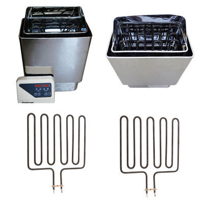 2 Pieces Hot Tube Heating Element Sauna Heater Spas Sauna Stove Tool 2670W