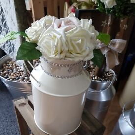 Milk churns 1ft high decorative