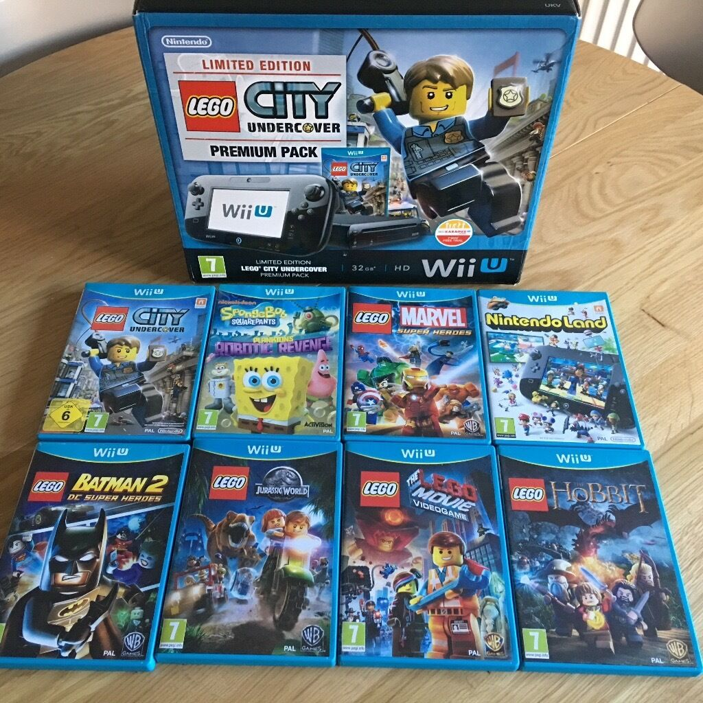 Lego Wii U Games : Wii u lego city undercover limited edition console with