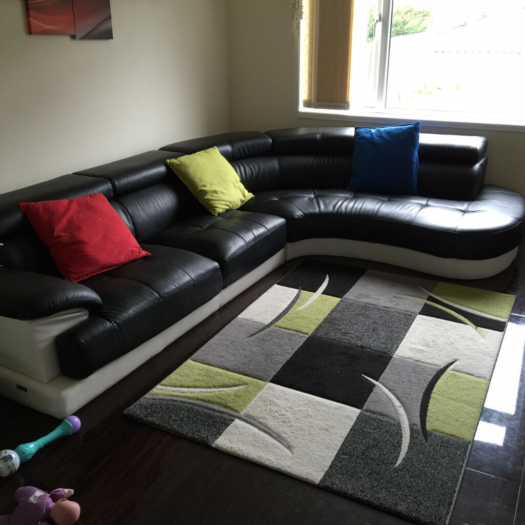 White Leather Corner Sofa For Sale Second Hand | Best Interior ...