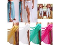 JOB LOT BUNDLE OF BEACH MAXI SARONG SKIRTS HAREM PANTS MESH TIE DYE WHITE PINK GREEEN YELLOW
