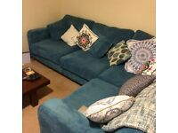 Corner Sofa left hand facing DFS Ocean Formal, in Teal