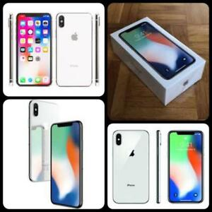 Brand New Silver iPhone X 64GB Sealed ($1250);  256GB Open Box, Unlocked (Rogers/Telus/Bell/Freedom/WIND/ International)