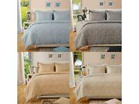 Luxury Paisley Print 400TC Cotton Rich Duvet Cover with Pillowcases Bedding Set