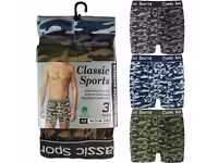 Brand New Pck of 12 Camouflage Boxer Shorts