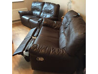 2x 2 Seater Leather Settees