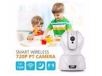 Sannce 720P Wifi Wireless Night Vision IP Camera CCTV Security Network Audio UK