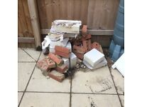 Used Red face bricks and thermalite blocks FREE