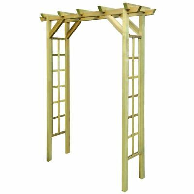 Wooden Garden Arch Arbour Rose Arch Pergola Archway Pinewood 150x50x200 cm New
