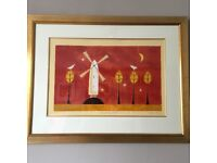 LARGE FRAMED LIMITED EDITION PRINT BY ADAM BARSBY, STARLIGHT SERENADE