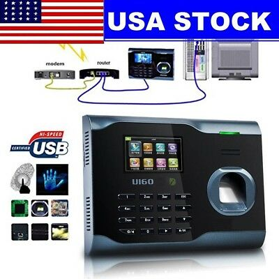 Biometric Fingerprint Attendance Time Clock Wifi Tcpip Usb Zksoftware Brand