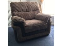 Electric recliner armchair, modern design, hardly used