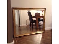 Large Gold /Brass Decorative Antique Style Mirror