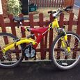 GOT TO GO QUICK..Vendetta Shimano 21 gear bike red and yellow VERY GOOD CONDTION