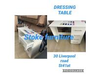 ❇️❇️ BRAND NEW READY ASSEMBLED DRESSING TABLES ON METAL RUNNERS