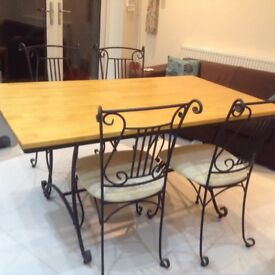 Solid wood table and four chairs ONLY £45!!!!