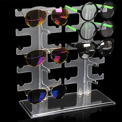 Clear Sunglasses Holder Rack Glasses Show Display Stand Organizer Home Shop