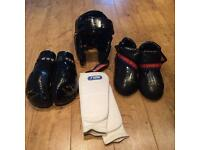 Tae Kwon Do TAGB Sparring kit size teenage/ adult.