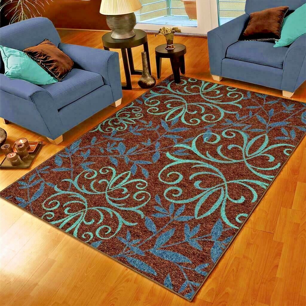 Details About Rugs Area Rugs 5x7 Outdoor Rugs Indoor Outdoor Carpet Brown Cool 5x8 Patio Rugs