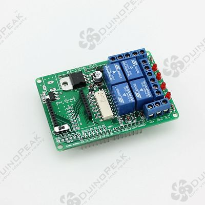 Duinopeak 4 Channel Relay Shield For Arduino With Xbee Socket For Smart Home Diy