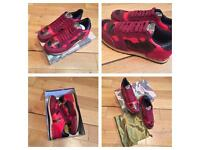 VaIentino Rockrunner Red Camo Trainers Sneakers Men Women Boys Girls Shoes With Box & Dustbag