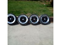 Mini lite style dished 4x100 4x108 wheels euro Jap fitment