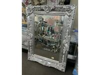 Silver or gold ornate vintage wall mirrors