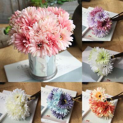 7 Heads Artificial Silk Gerbera Flowers Daisy Bouquet Wedding Party Home Decor - Daisy Decorations
