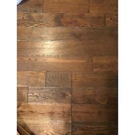 Real oak walnut flooring