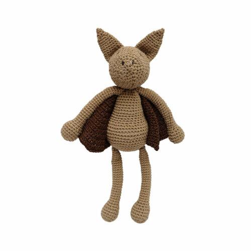 Brown Bat Handmade Amigurumi Stuffed Toy Knit Crochet Doll VAC