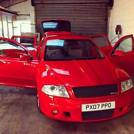 """Exclusive, Lovely Corrida Red Skoda Octavia VRS Estate with 18"""" Powder Alloys - Subwoofer in Boot"""