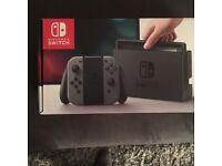 BRAND NEW Grey Nintendo switch