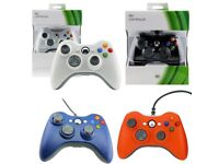 Boxed Xbox 360 Controller Wired (Brand New) (Several Colours)