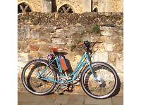 Artisan Vintage Restored Bicycle (bike) with electric motor 250 watt 13ah Battery (Ebike)