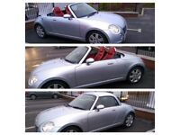 '56 Daihatsu Copen Convertible 87,300 miles Silver Heated Red Leather seats & good spec HPI Clear