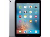 Brand New - iPad Pro 128gb, Wifi, Space Grey + Case