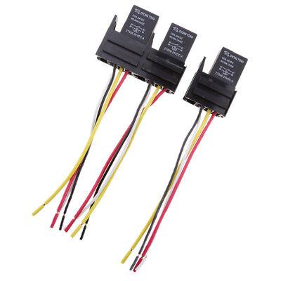 24 Volt 30 Amp (3 Sets DC 24Volt 30Amp SPST Automotive 4Pins Relay 4 Wires Harness Sockets)