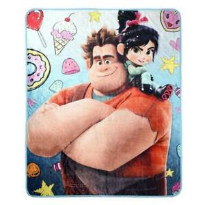 Disney Wreck It Ralph Super Plush Throw Kids Blanket - 48 x 60 Inch [Blue]