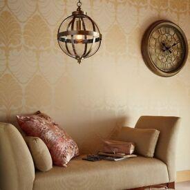 "Laura Ashley Home ""ODIHAM"" Antique Brass Ceiling Light Fitting - HALF PRICE"