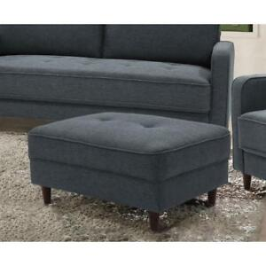 LifeStyle Solutions Madellaine Tufted Ottoman - Dark Grey (New other)