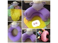 💖 Bundle of toddler's/ baby toys & Sit Me Up Cosy very good cond.& free sorter car💖