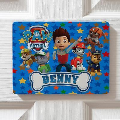 Personalised Paw Patrol Boy Children Bedroom Door Kids Name Sign Plaque DPE6