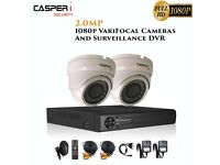 2MP VariFocal Dome Cameras and 4CH DVR kit 1080p IR Weatherproof CCTV system with 1TB Hard drive