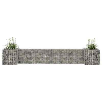 H-Shaped Garden Gabion Planter Steel Wire 260x40x40cm Gabion Basket Wall Pot UK
