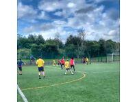 Goalkeeper play free 7aside league football every thursday