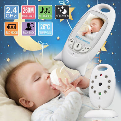 """2 """" Baby Monitor 2.4GHz Color LCD Audio Talk Night Vision Wireless Digital Video"""