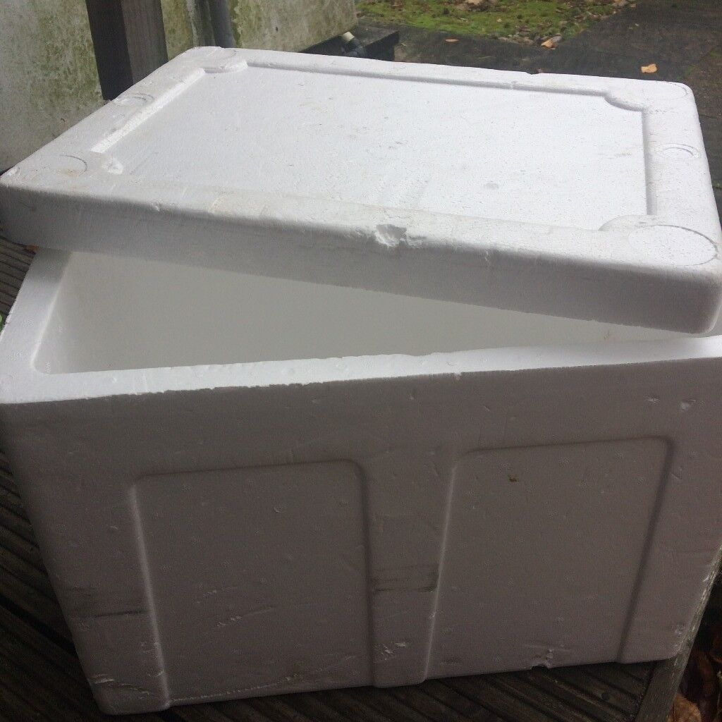 Large Styrofoam Insulated Shipping Cooler Container, 48x36x36 cm