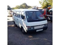 Left hand drive Nissan Vanette 2.0 diesel long wheel base mini bus. MOT till 2017.