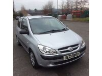 Excellent 2008 Hyundai Getz.1.4. Ideal first-time buyer. Long mot with just 70000 miles.